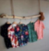 Collection chemises surf and sex fleurs colibris bois floté