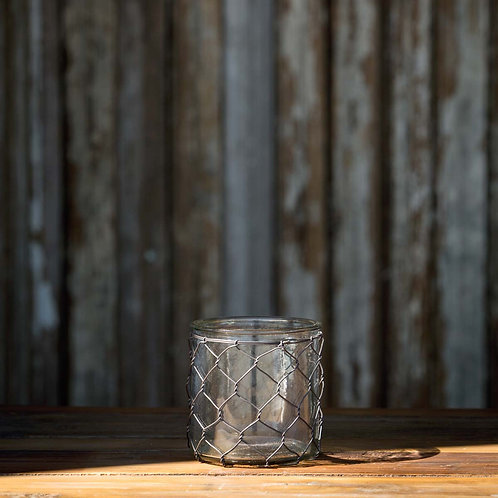 Wire Jar Candle Holder