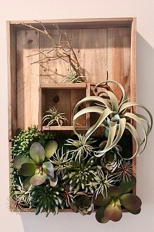 Custom madeArtificial Succulent wall art 15 x 25