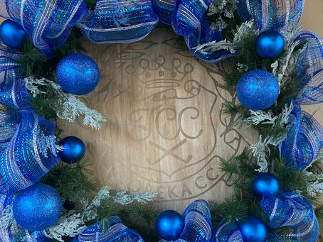 Christmas Decor, Topeka Country Club and the 2020 Porch Tour