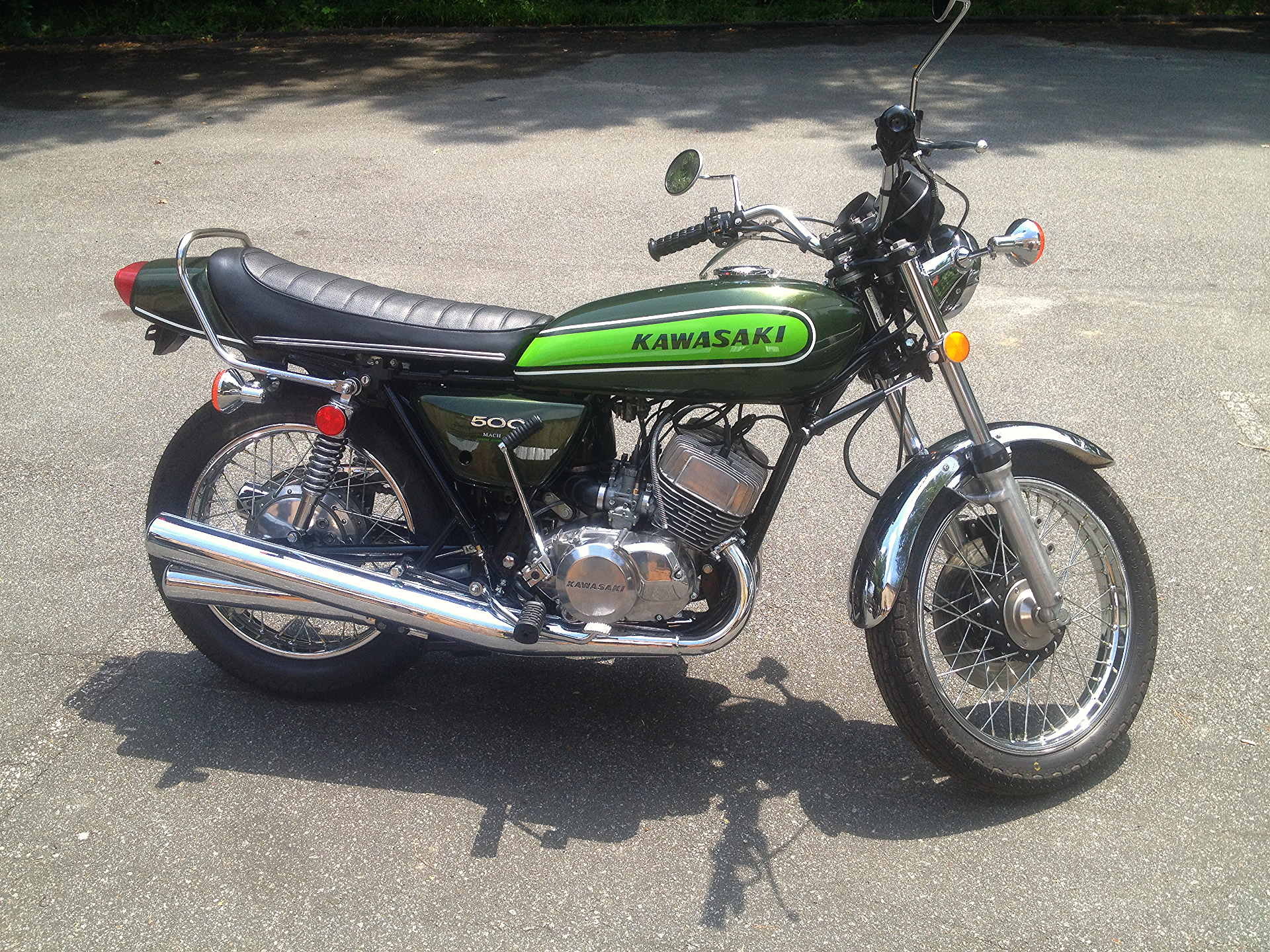 1974 Kawasaki H1 After