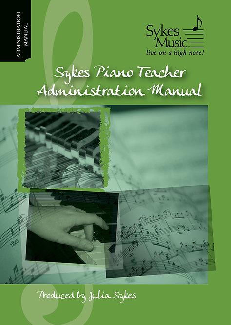 Sykes Piano Teacher Administration Manual