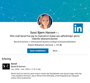 LinkedIn profil med barsel på CVet