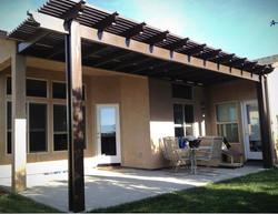 Custom Alumawood lattice style patio cov