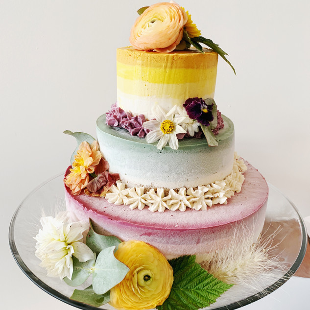 Rawdacious vegan gluten-free wedding cheesecake