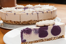 white chocolate berry vegan gluten free cheesecake