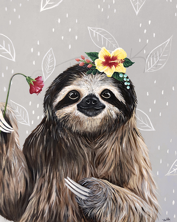 Sophie Sloth Flowers copy r