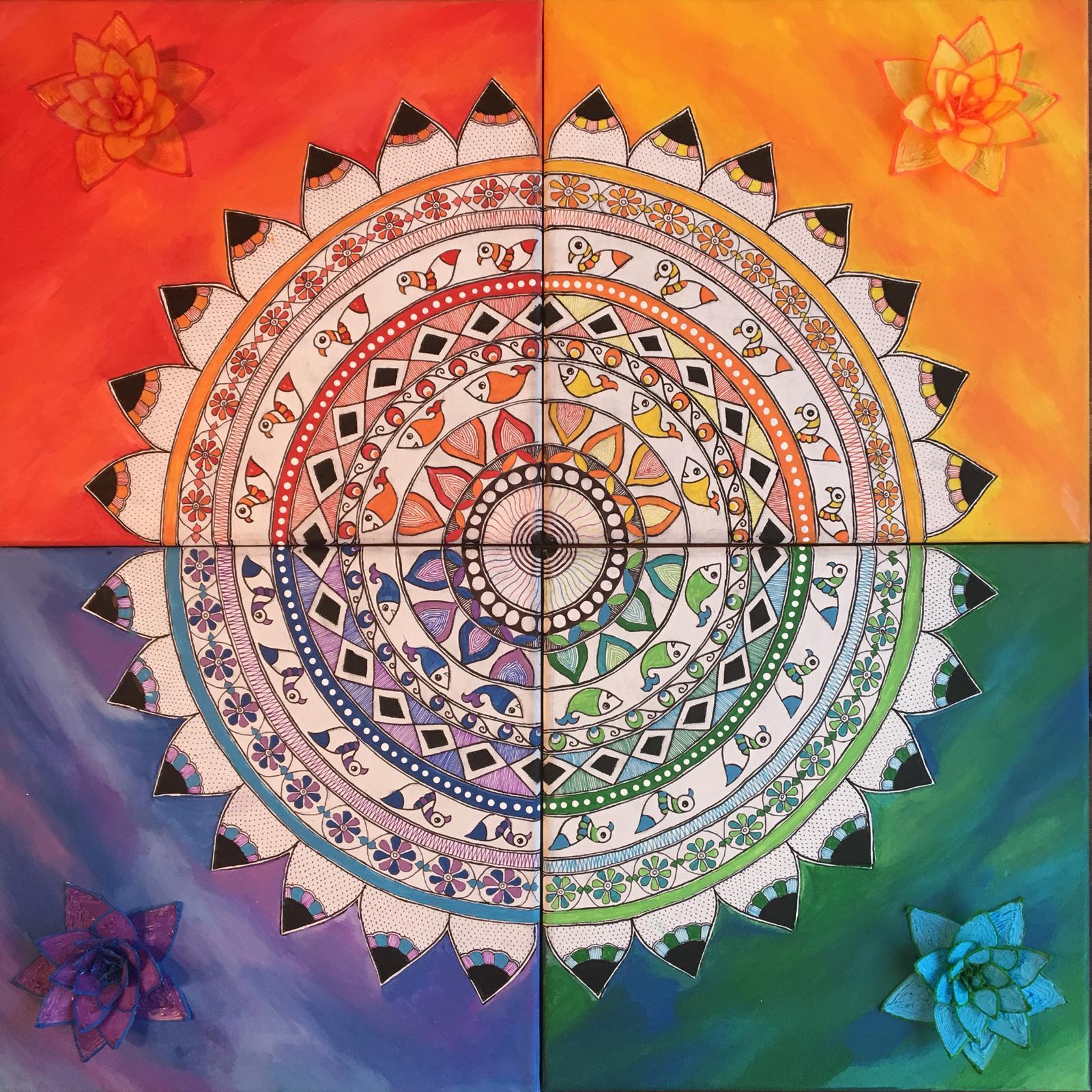 4 Piece Mandala (SOLD!)