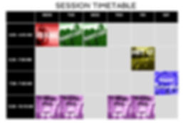Body Rockers Timetable 2020