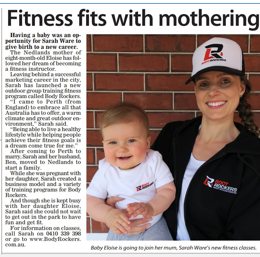 Fit Mums Sarah Ware running exercise classes in Nedlands