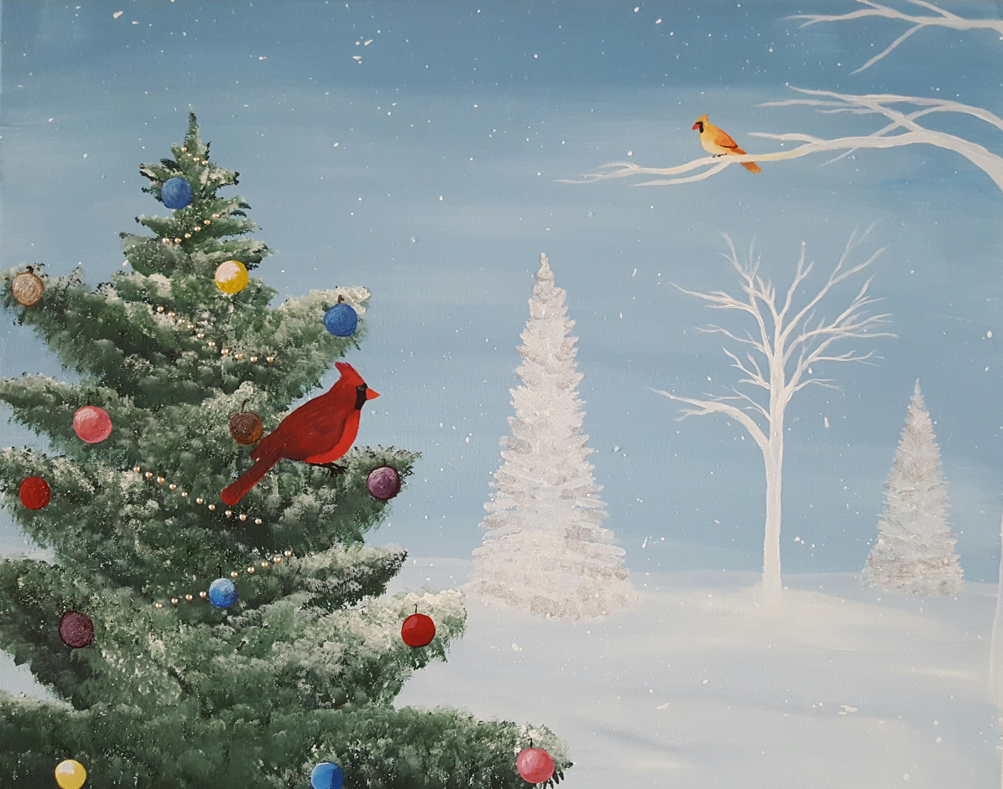 Cardinals at Christmas