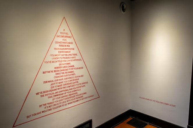 Red bleeds Pink Mannifesto: Ivy House Gallery
