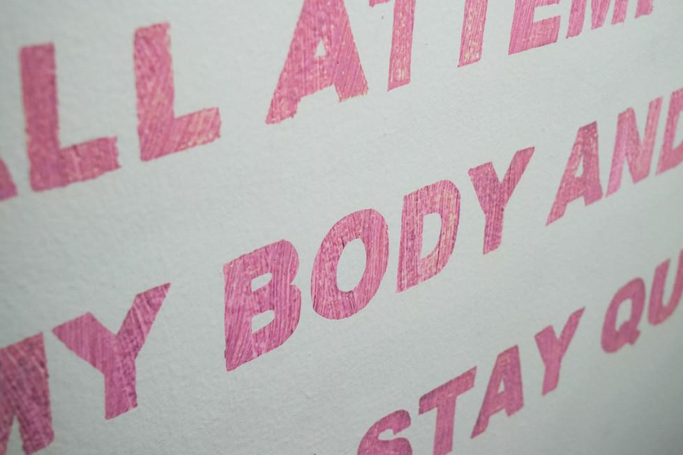 Red bleeds Pink Mannifesto: No Fun Gallery