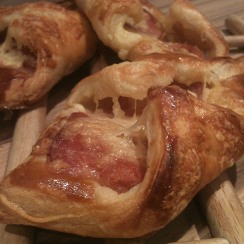 Bcaon and Cheese Turnovers