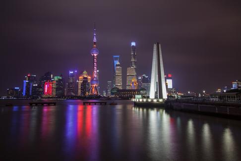 The Bund By Night, Shanghai