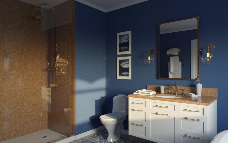 Blue Bathroom Contracting