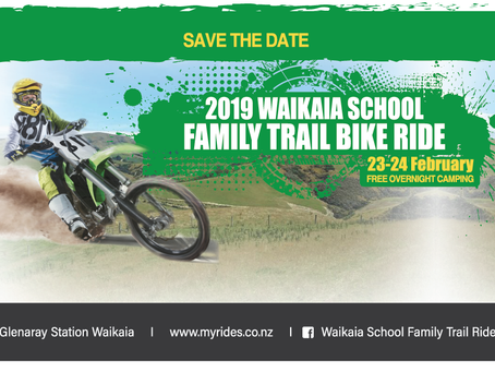 Waikaia School Family Trail Bike Ride