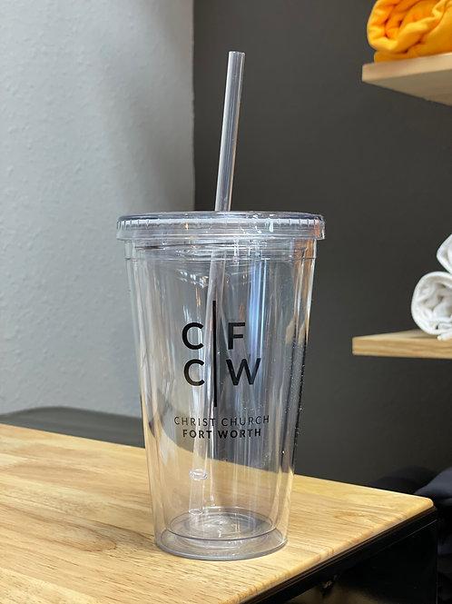 Clear CCFW Cup w/Straw