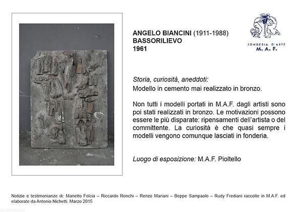 Angelo Biancini fonderia artistica
