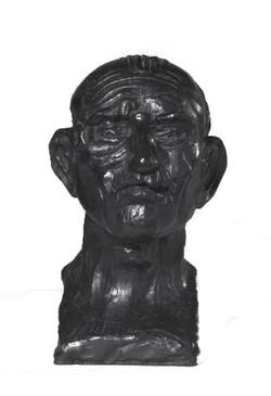 Antonio Ligabue, autoritratto, bronzo