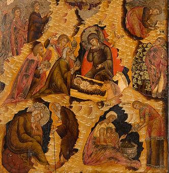 Ikone mit der Geburt Christi, Russland, Jaroslawl, 17. Jahrhundert