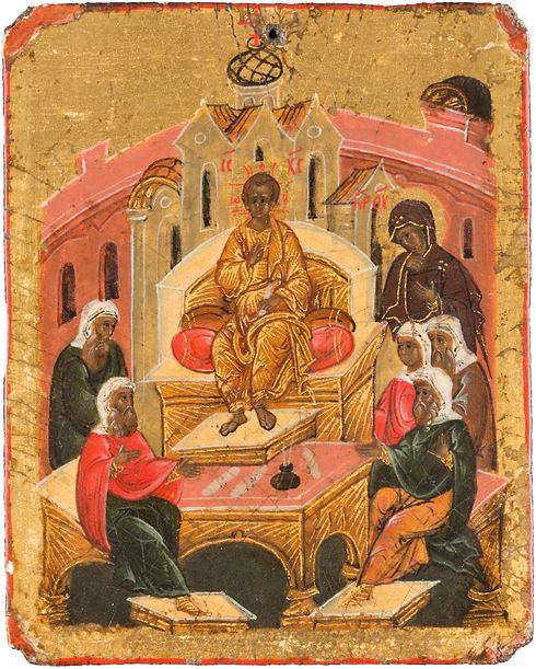 Seltenes Tabletka mit dem lehrenden Christus, Russland, um 1600