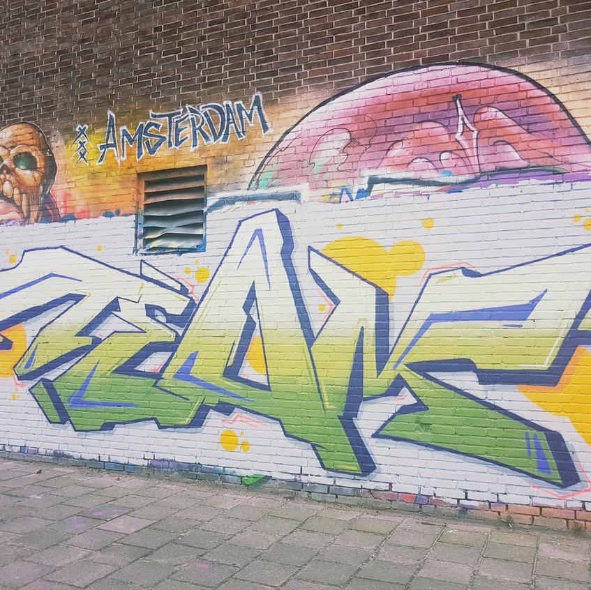 Art Graffiti tagging on wall