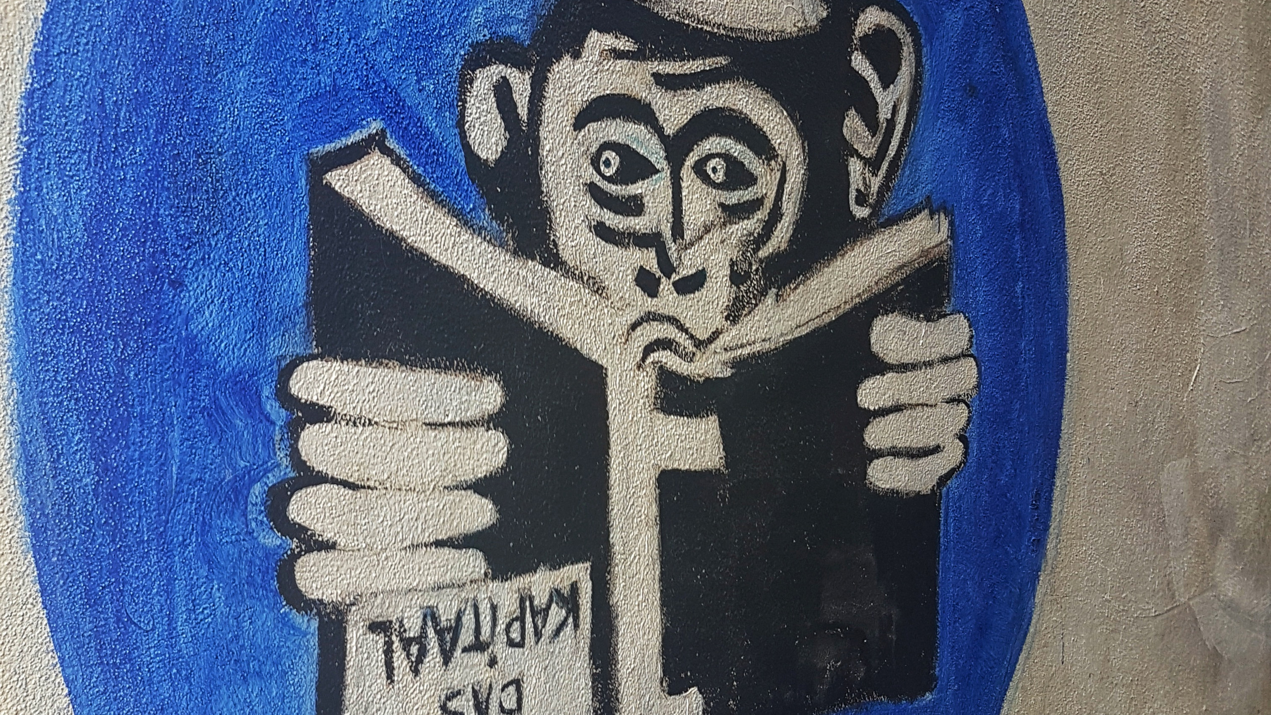 Reading Monkey by my neighbor.