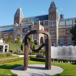 Chillida in Rijksmuseum Gardens