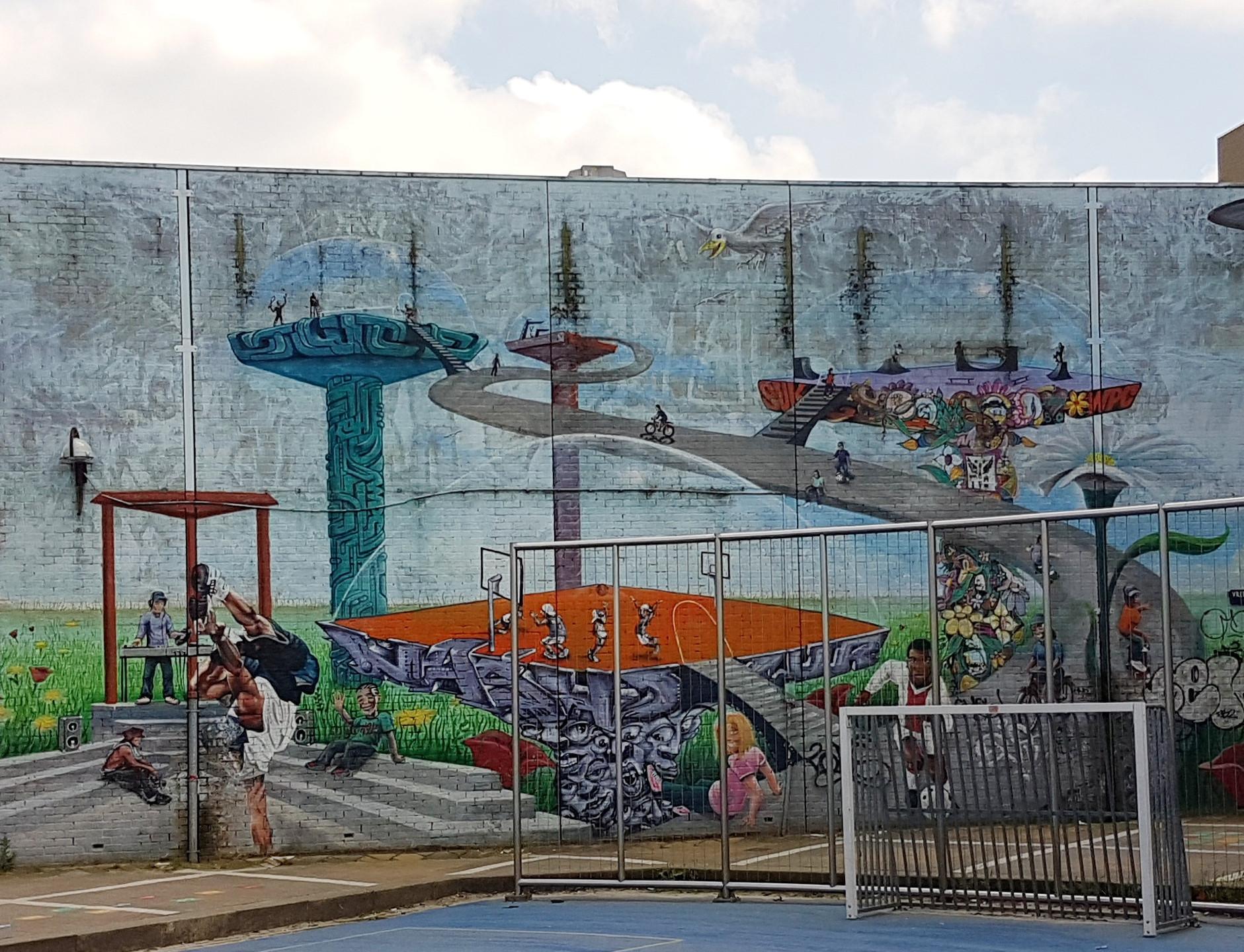 Mural on Vredespleintje