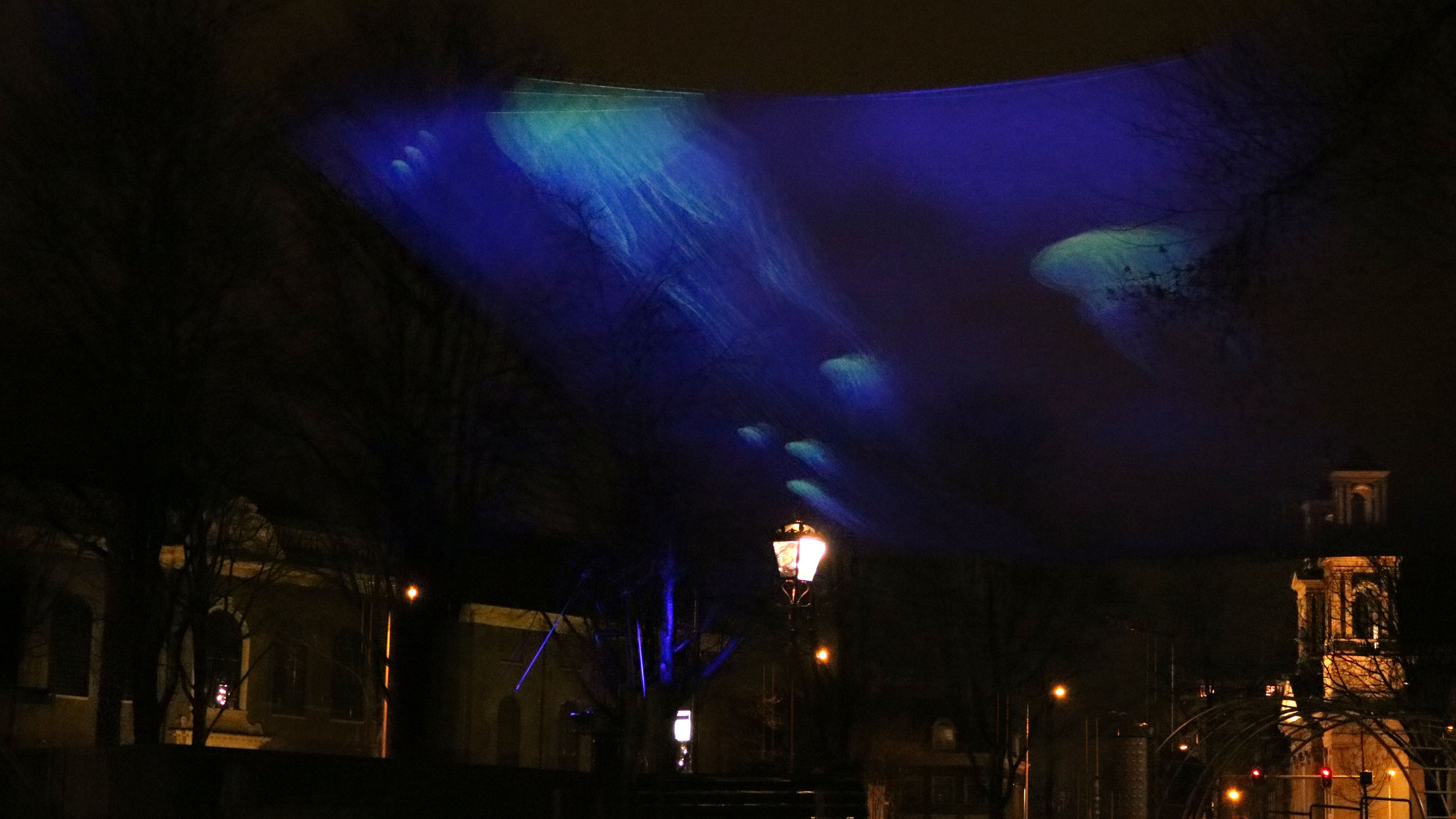 Light projected jelly fish.  - ACTLD Artist Group