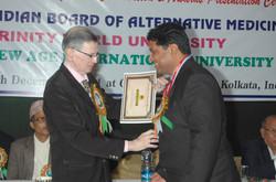 Dr Kurien receiving Gold Medal