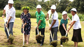Ground Breaking Ceremony For Manatua's Cable Landing Station in Rarotonga