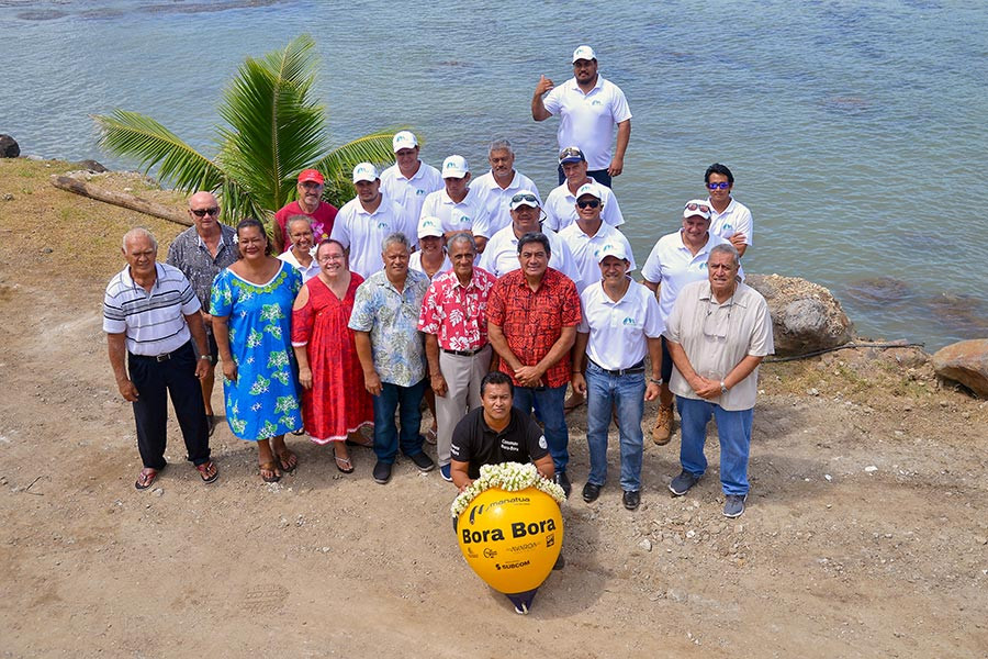 January 21st 2020 - OPT team and Officials at the inauguration of Bora Bora cable landing station