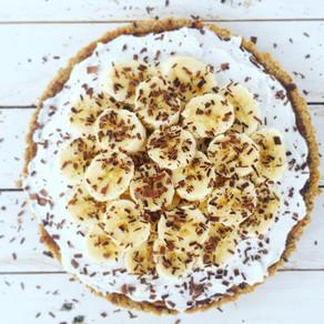 Raw Almond Crust Banoffee Pie