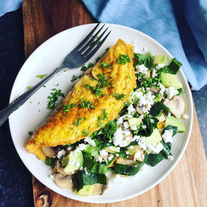 Mushroom Spinach and Goats Cheese Omelette