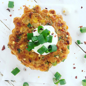 Crunchy Corn Fritters with Avocado