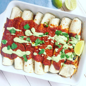 Vegetable and Black Bean Enchiladas