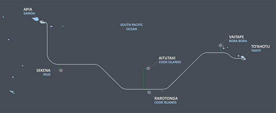 Manatua Cable System Map