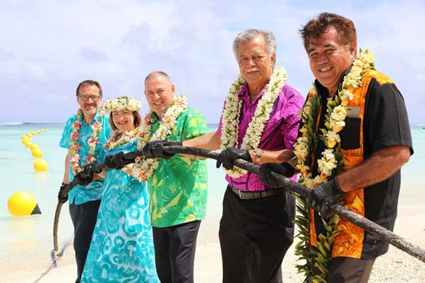 First Ever Submarine Cable Lands In The Cook Islands