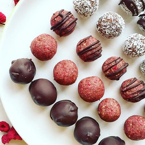 Raspberry chocolate Bliss Balls