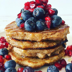 Easy Fluffy Banana Oaty Pancakes