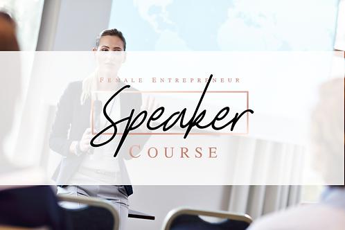 Speaker Course- Online