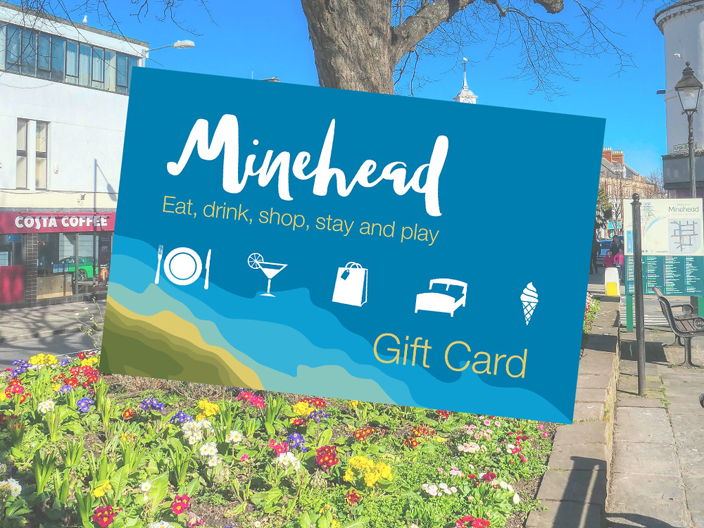 Mock-up of the Minehead Gift Card
