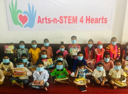 Providing Art Kits and School Supplies to Children in India