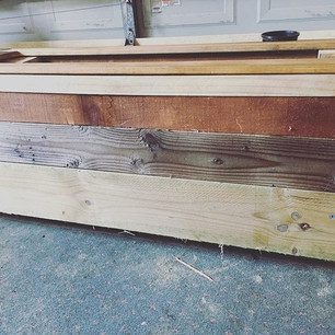 Recycled timber planter box
