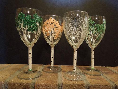 4 Seasons Wine Glasses/small size