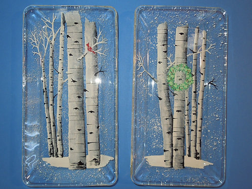 Aspen Tree  Rectangle Serving Plates