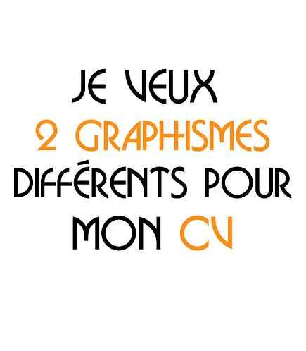 Création de plusieurs graphismes pour un CV