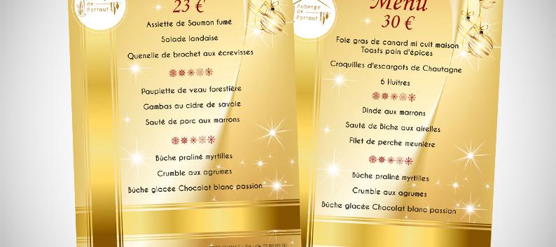 graphiste_angers_menu_fin_d'année_restau